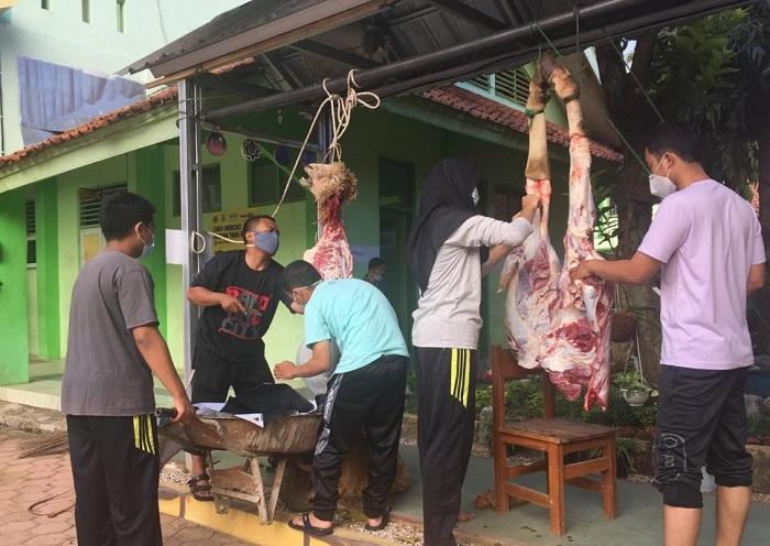 Pemotongan hewan kurban MAN 1 Banjarnegara